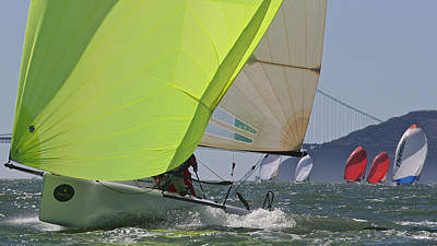 Photograph - Downwind On The Bay by Steven Lapkin