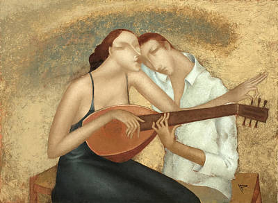Lips Painting - Duet by Nicolay  Reznichenko