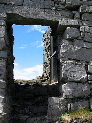 Photograph - Dun Aengus Doorway by Denise Mazzocco