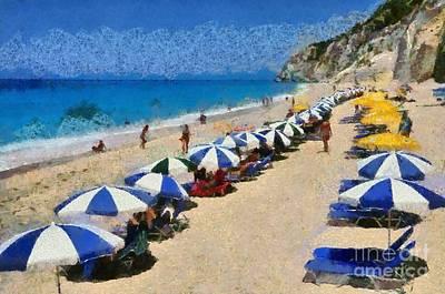 Traditional Bells - Egremni beach in Lefkada island by George Atsametakis