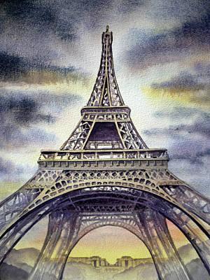 Original featuring the painting Eiffel Tower  by Irina Sztukowski
