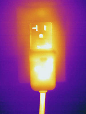 Electrical Outlet, Thermogram Art Print