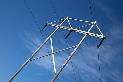 Wood Pylons Photograph - Electrical Power Transmission by Donald  Erickson