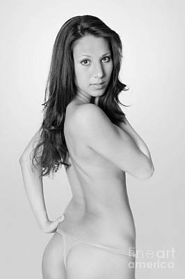Nude Photograph - Elegant Monochrome Nude Brunette by Jochen Schoenfeld