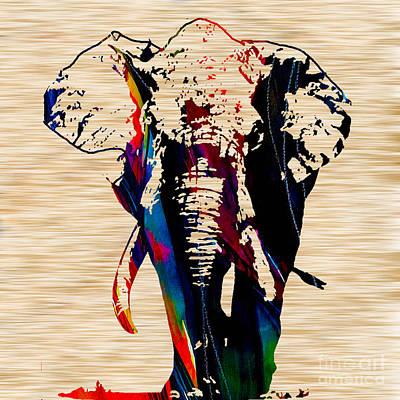 Elephant Art Print by Marvin Blaine
