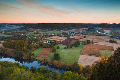 Aquitaine Photograph - Elevated View Of The Dordogne River by Panoramic Images