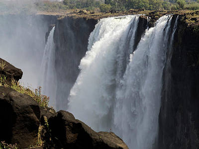 Victoria Falls Photograph - Elevated View Of Waterfall, Devils by Panoramic Images