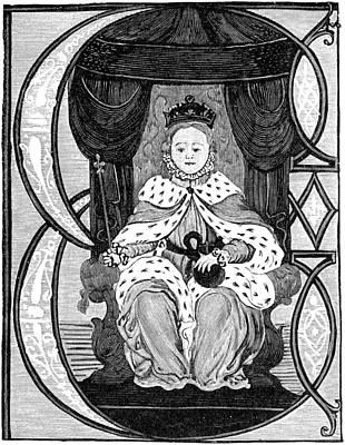 Podium Painting - Elizabeth I (1533-1603) by Granger