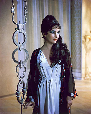 Cleopatra Photograph - Elizabeth Taylor In Cleopatra  by Silver Screen