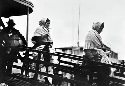 Babushka Photograph - Ellis Island Immigrants by Granger