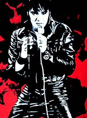 Black Gospel Painting - Elvis by Luis Ludzska