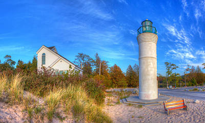 Sleeping Photograph - Empire Michigan Lighthouse by Twenty Two North Photography