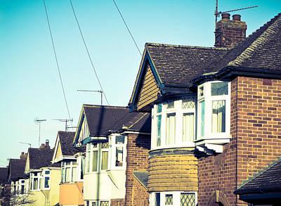 Suburban Photograph - English Houses by Tom Gowanlock