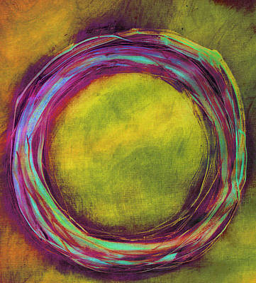 Art Print featuring the painting Enso by Katie Black