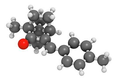 Enzacamene Sunscreen Molecule Art Print by Molekuul