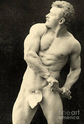 Athlete Photograph - Eugen Sandow by George Steckel