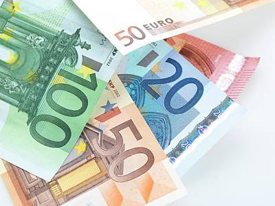 Expensive Photograph - Euro Banknotes by Tek Image