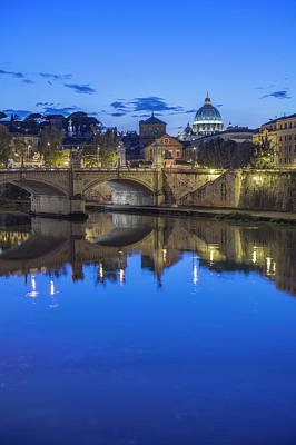 Rome Photograph - Europe, Italy, Rome, Tiber River by Rob Tilley