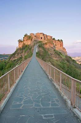 Umbria Photograph - Europe, Italy, Umbria, Civita, Bridge by Rob Tilley