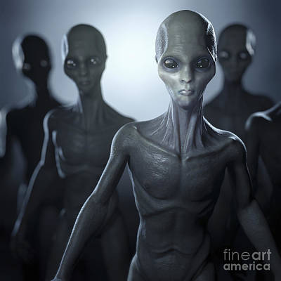 Extraterrestrial Life Art Print by Science Picture Co