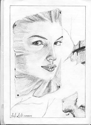 Face Art Print by Safa Al-Rubaye