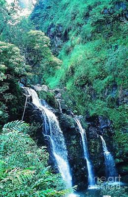 Photograph - 3 Falls To Hana  by Phillip Allen