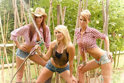 3 Farm Girls Art Print by Jt PhotoDesign