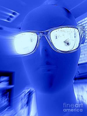 Digital Art - Feelin Blue by Ed Weidman