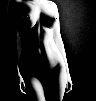 Female Form And Light Art Print by James Harper