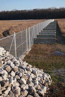 Carp Photograph - Fence Blocking Invasive Fish Species by Jim West