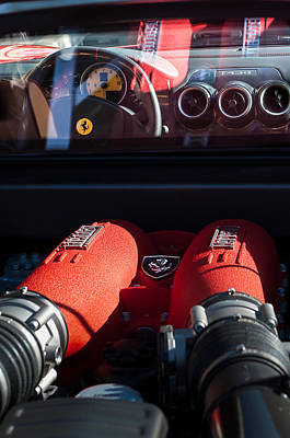 Photograph - Ferrari Engine by Jill Reger