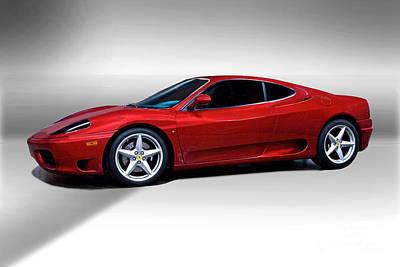 Movies Star Paintings - 2002 Ferrari 360 Modena by Dave Koontz