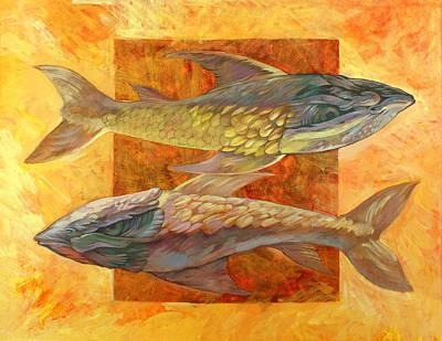 Tempera Mixed Media - Fish by Filip Mihail