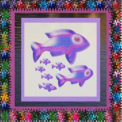 Mixed Media - Fish Poisson  Exotic Exotique Speed Delicacy Delicatesse Delicacy Graphic Digital Numerique Graphiqu by Navin Joshi