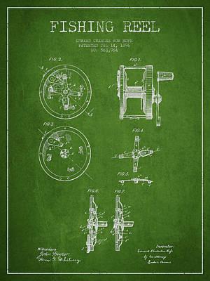 Fishing Reel Patent From 1896 Art Print