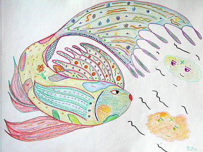 Fishstiqueart 2009 Art Print by Elmer Baez
