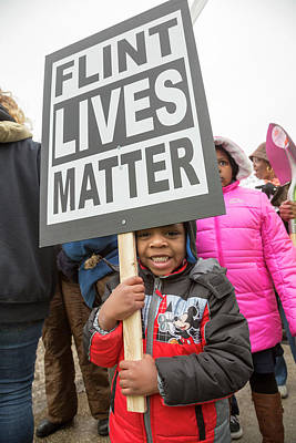 African-american Photograph - Flint Drinking Water Protest by Jim West