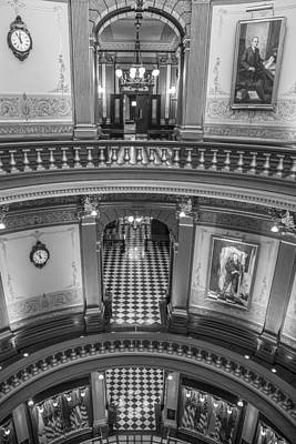 Photograph - 3 Floors Michigan State Capitol  by John McGraw