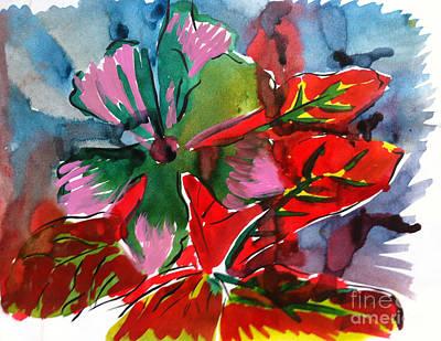 Painting - Flowers by Michelle Deyna-Hayward