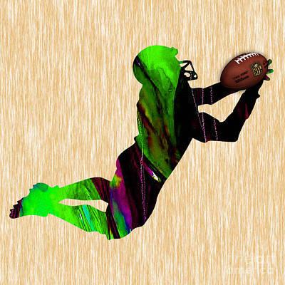 Pro Mixed Media - Football by Marvin Blaine