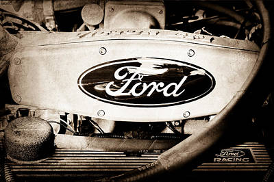 Ford Engine Emblem Art Print