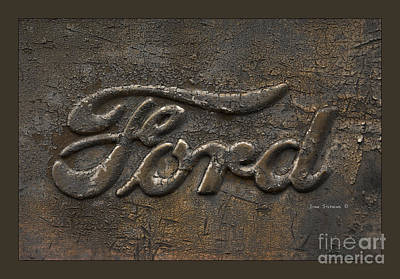 Photograph - Ford Tough Antique Truck Logo by John Stephens