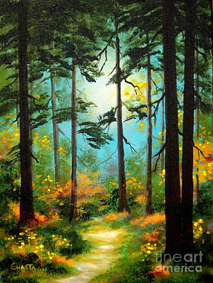 Painting - Forest  Light  by Shasta Eone