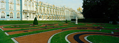 Formal Garden In Front Of The Palace Art Print by Panoramic Images