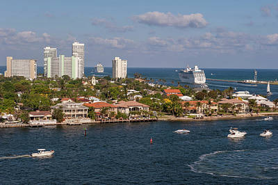 Fort Lauderdale, Port Everglades Art Print by Lisa S. Engelbrecht