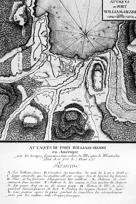 1757 Photograph - Fort William Henry, 1757 by Granger