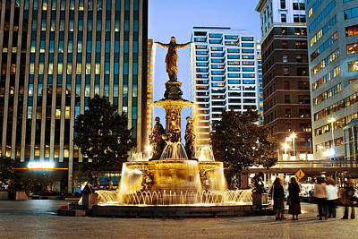 Photograph - Fountain Square by Scott Meyer