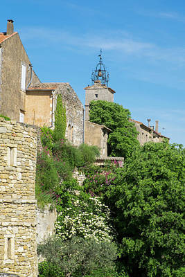 Provence Photograph - France, Provence, Luberon, Menerbes by Emily Wilson