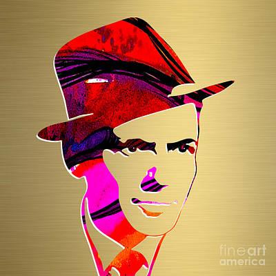 Frank Sinatra Mixed Media - Frank Sinatra Gold Series by Marvin Blaine
