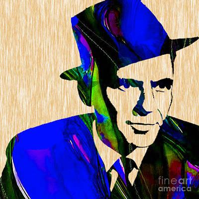 Frank Sinatra Painting Art Print by Marvin Blaine